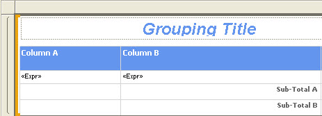 SSRS Inserting a Tablix into a List Control – Custom Table