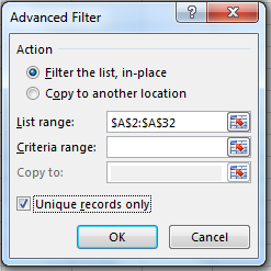Advanced Filter